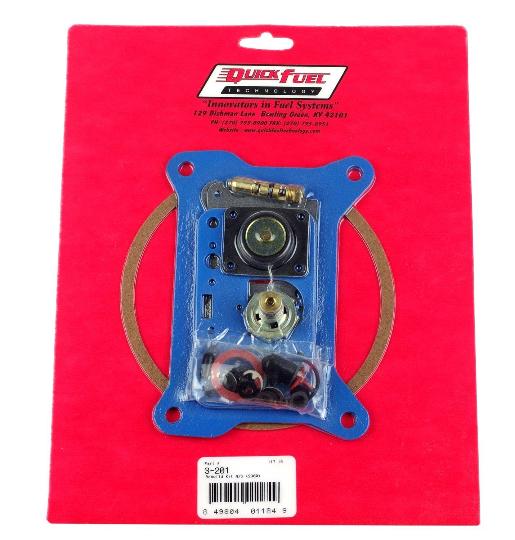 Quick Fuel Technology 3-201 Non Stick Rebuild Kit for 2300 Style Carburetor