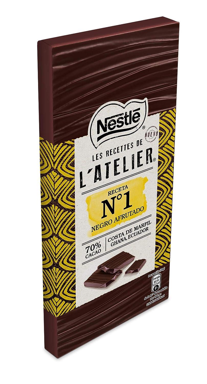 Nestlé Les Recettes de lAtelier Chocolate Negro 70% Cacao - Tableta de Chocolate 16 x 115 gr: Amazon.es: Alimentación y bebidas