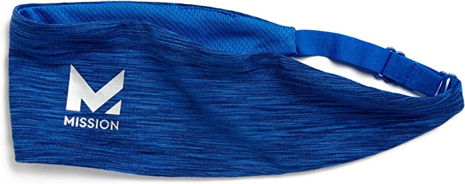 Charcoal Space Dye One Size /& Mission VaporActive Cooling Lockdown Headband