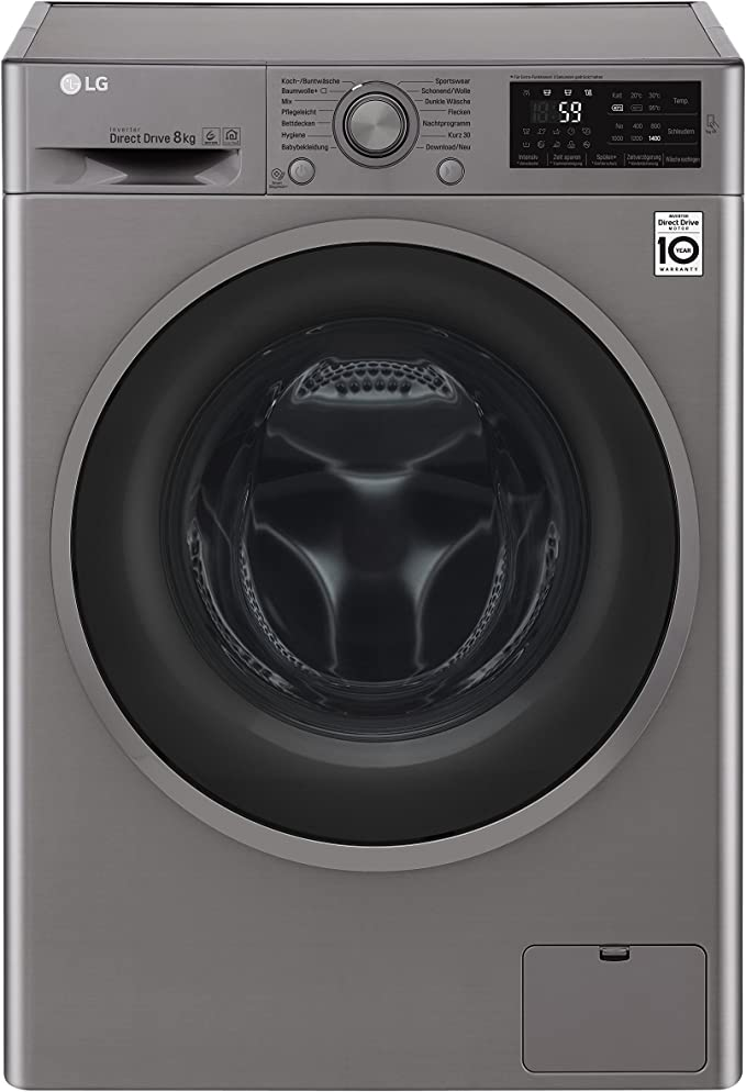 LG F14WM8TN4 Independiente Carga frontal 8kg 1400RPM A+++ Plata ...