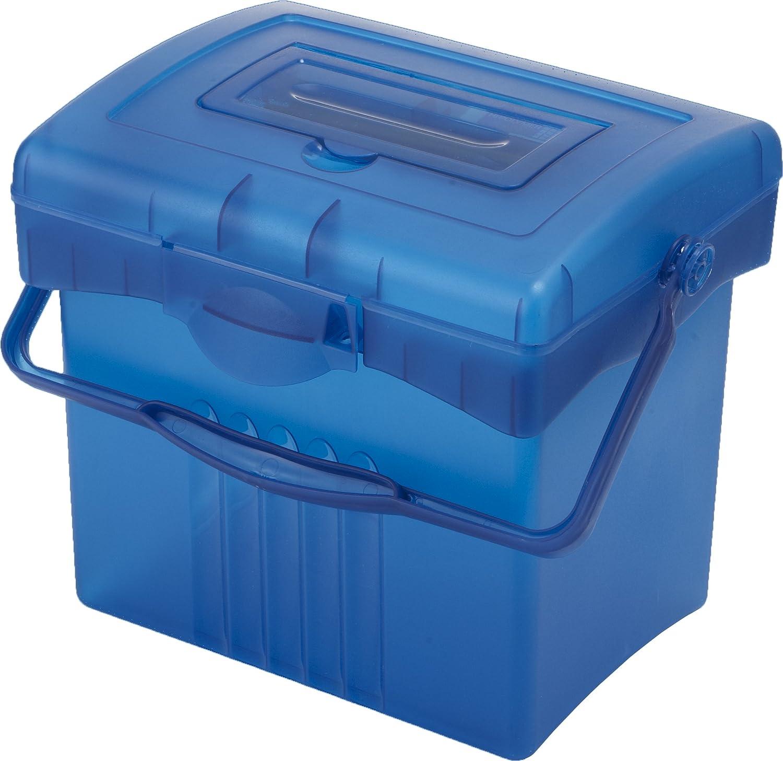 Storex Economy Portable File Box, Black (61502U01C)