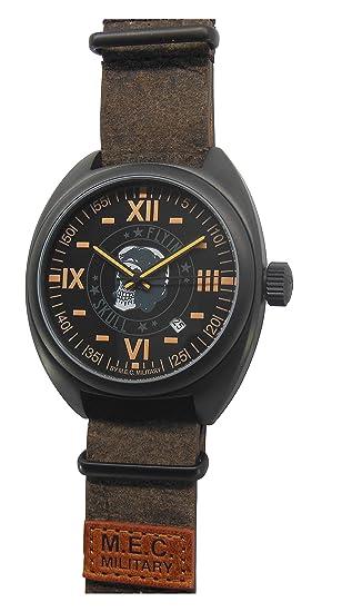 Reloj hombre automático Vintage Calavera Militar Buceo mec acero: Amazon.es: Relojes
