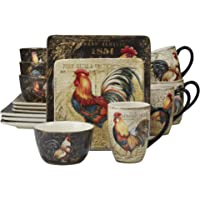 Deals on Certified International Gilded Rooster 16-pc Dinnerware Set