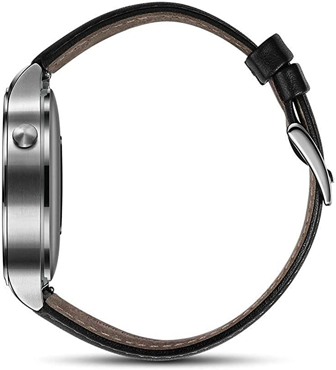 Huawei Watch Stainless Steel with Black Suture Leather Strap (US Warranty)