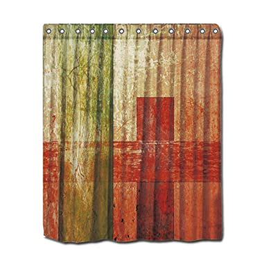 Amazon YYT Personalized Shower Curtains Abstract Geometric Art