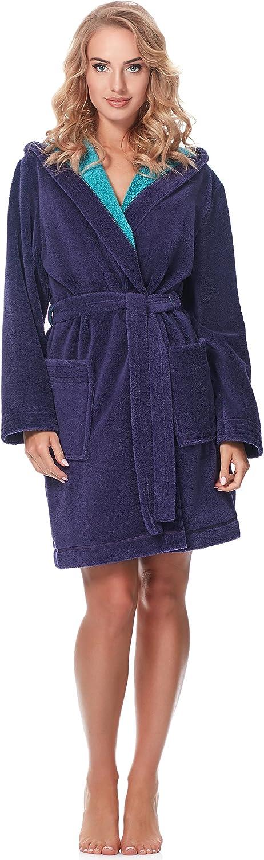Merry Style Bata Corta con Capucha Vestidos de Casa Ropa Mujer MSLL1004