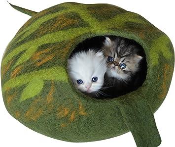 Amazon.com: Best gato cama Cueva, Felted lana de Merino ...