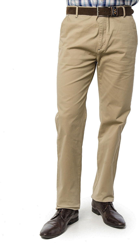 Spagnolo Pantalon Chino Basico Piping Gabardina Elastico 1778: Amazon.es: Ropa y accesorios