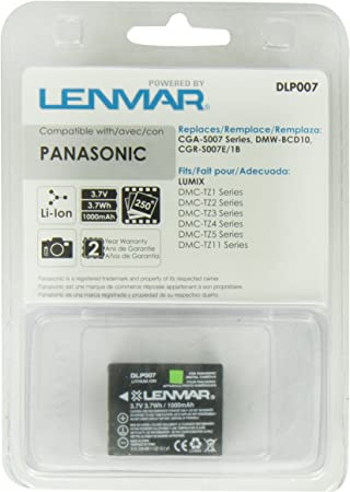 DMC-TZ15 Cargador DMC-TZ4 DMC-TZ5 DMC-TZ2 DMC-TZ50 DMC-TZ3 Bater/ía CGA-S007 // CGR-S007 // DMW-BCD10 para Panasonic Lumix DMC-TZ1 DMC-TZ11