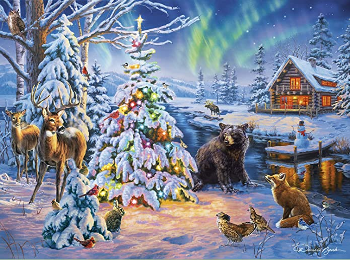 Buffalo Games Darrell Bush Holiday Collection Puzzle, 1000 Piece