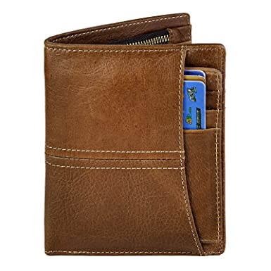 Le'aokuu Men Genuine Leather Bifold Passcase