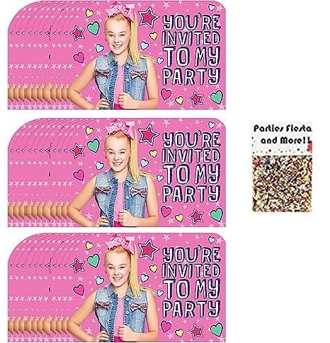 Amazon Com Combined Brands Jojo Siwa Party Supplies Invitations