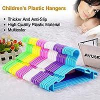 Baby Hangers Toddler Plastic Hangers - 60 Value Packs Premium Children's Hangers - 6 Lovely Colors, Very Durable Heavy Solid Tubular Hangers, Non-Slip Hangers Designed for Babies, 0-48 Months