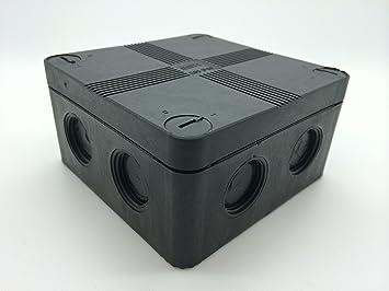 ip66 black weatherproof outdoor external junction box complete rh amazon co uk waterproof wiring box waterproof wiring box