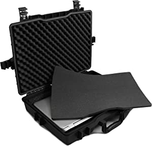 CASEMATIX Laptop Hard Case Compatible with Gigabyte Gaming Laptops Up to 18 Inches - Holds Gigabyte Auros, Aero 15x, Gigabyte Sabre 15 and More with Accessories
