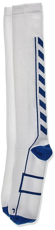 Hummel - Calcetines técnicos Altos para Interior, Todo el año, Unisex, Color Blanco