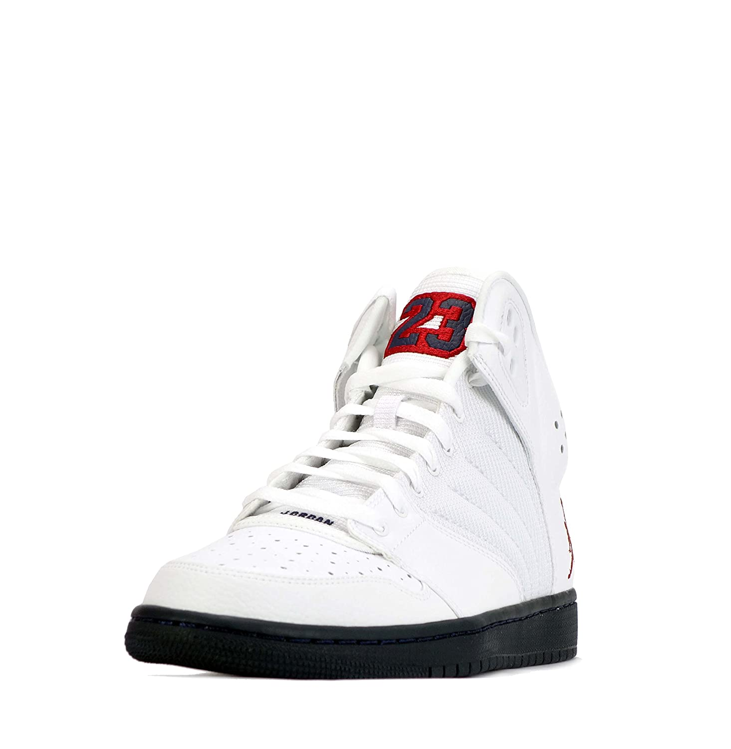 huge discount 207f3 5267a Nike Air Jordan 1 Flight 4 PREM Mens Hi Top Basketball Trainers 838818  Sneakers Shoes (US 9, White Gym red Midnight Navy 164)  Buy Online at Low  Prices in ...