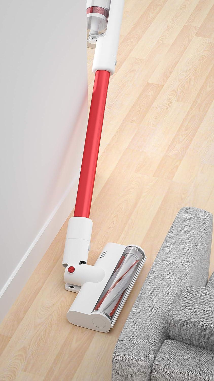 Soporte de Pared dise/ño ergon/ómico Color Rojo Filtro HEPA Cepillo Flexible ROIDMI S1 Special Aspirador inal/ámbrico hasta 50 Minutos de duraci/ón de la bater/ía