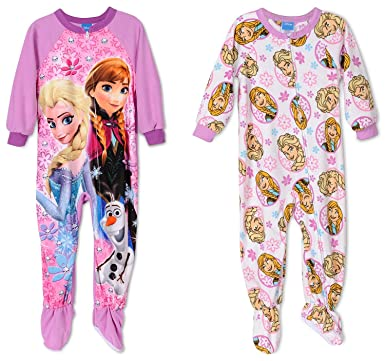 Disney Toddler Girls Two Footed Pajamas , Size 4T