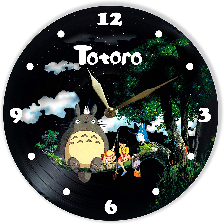 Details about  /LED Vinyl Clock Studio Ghibli Anime LED Wall Art Decor Clock Original Gift 3634