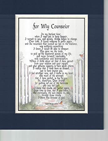 Amazoncom Gift Present Poem Thank You For A Counselor Or Therapist