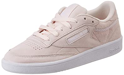 premium selection f3cce e0e0f Reebok Club C 85 Trim NBK, Chaussures de Tennis Femme, Rose (Pale Pink