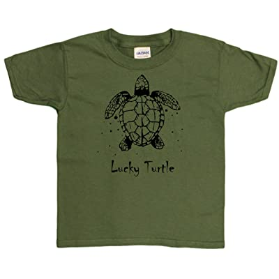 Very Lucky Turtle Youth T-Shirt (Sizes X-Small - X-Large)