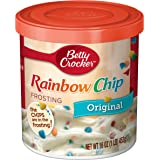 Betty Crocker Baking Rich and Creamy Frosting, Rainbow Chip, 16 Ounce