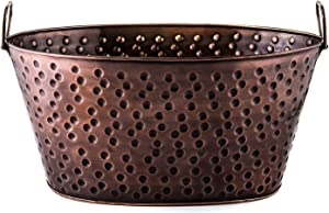 Old Dutch Oval 4-Gallon Party Tub, 17 by 11 by 81/4-Inch, Antique Copper