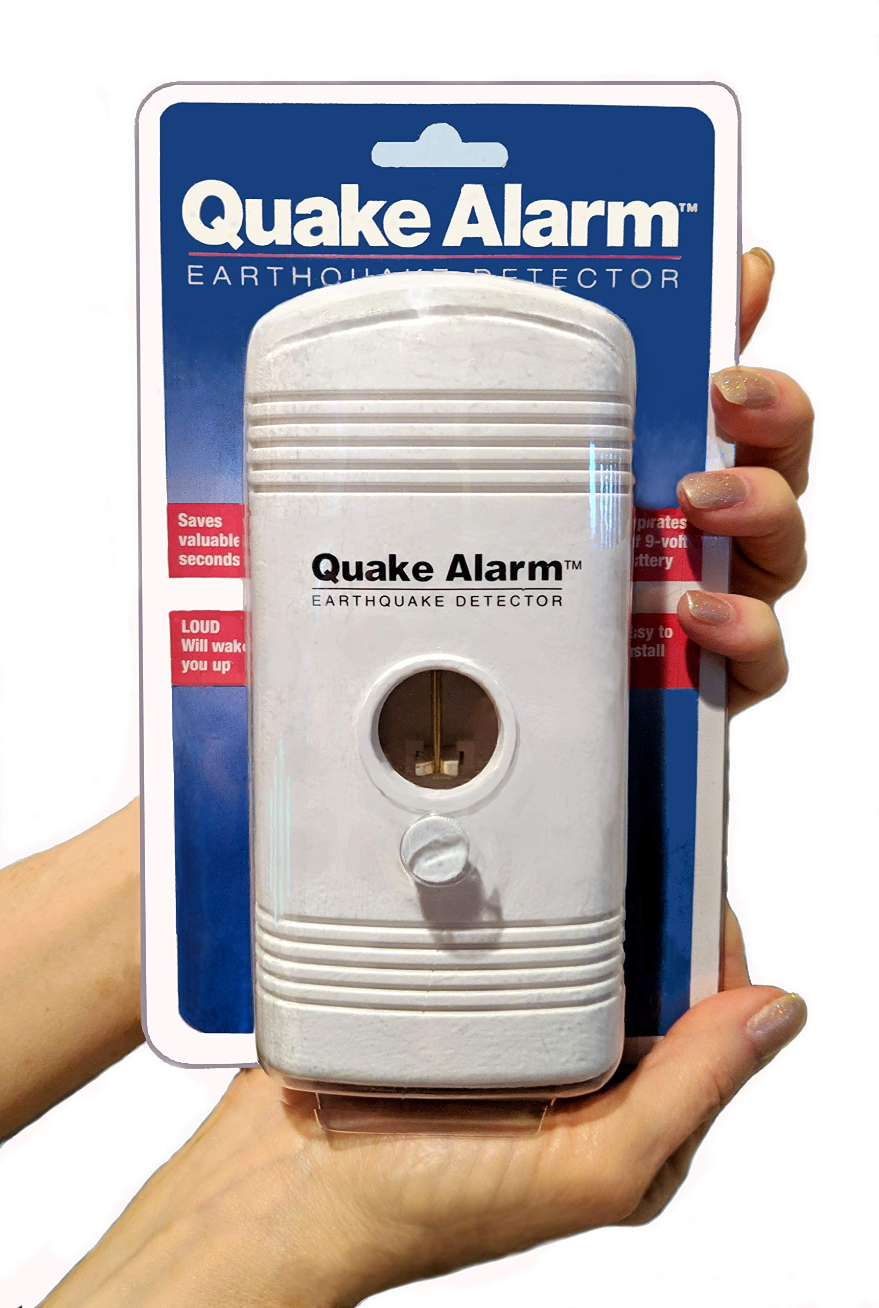 Quake Alarm - US Patent #5,475,372. Model JDS QA-2000 Featured on Los Angeles ABC-7 News. Can Wake You up so You Will be Instantly alerted. When Seconds Count, be Prepared!