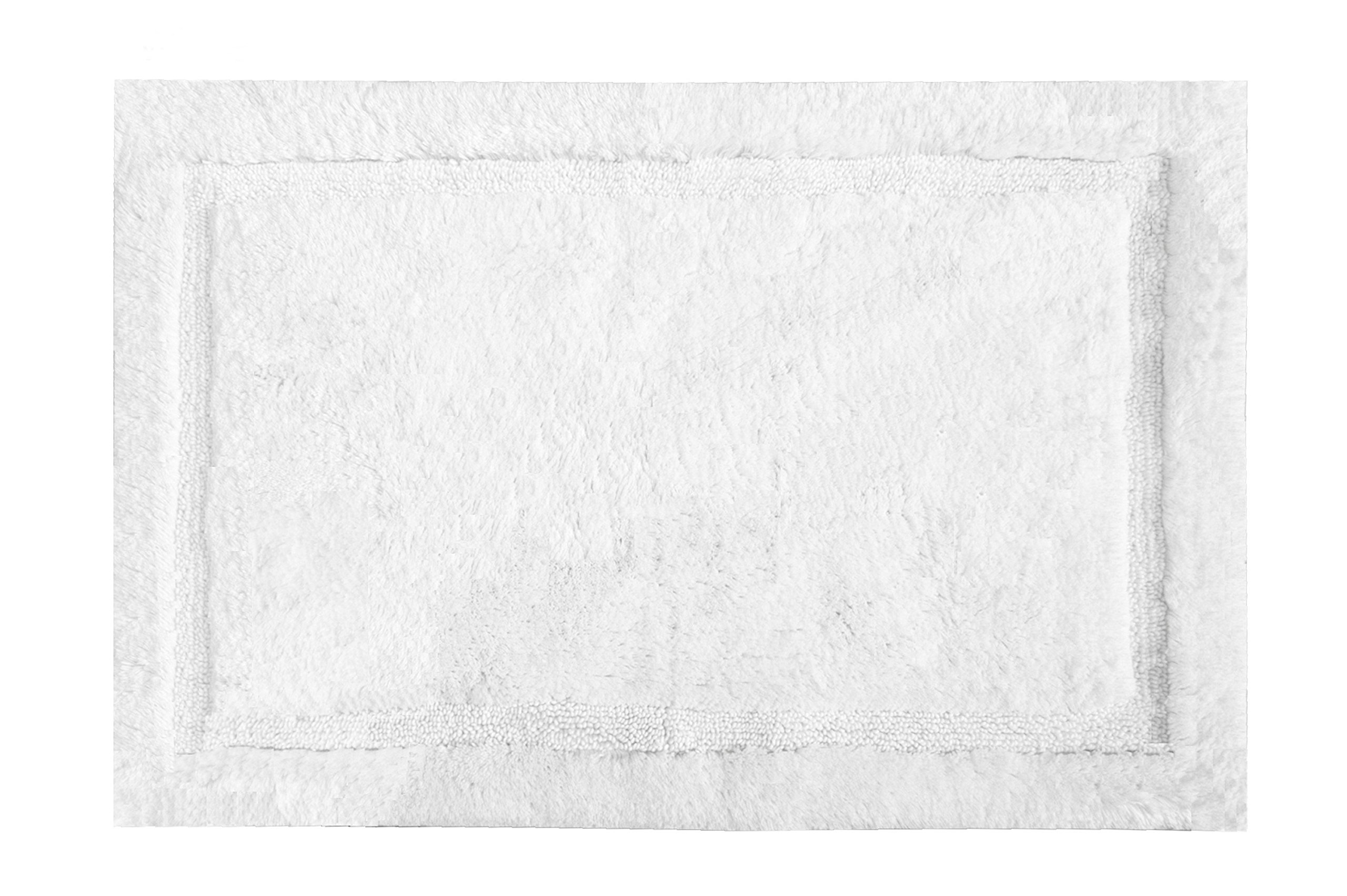 Grund Asheville Series 100% Organic Cotton Bath Rug 24-Inch by 40-Inch White