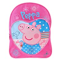 Peppa Pig Backpack Love Heart Children's Rucksack Junior School Bag Pink Blue