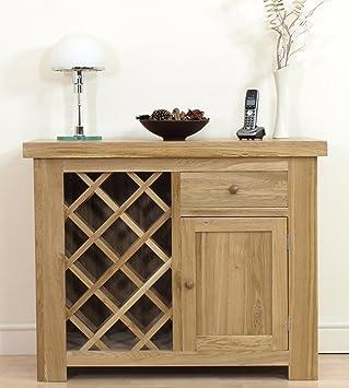 kensington solid oak dining room rack cabinet