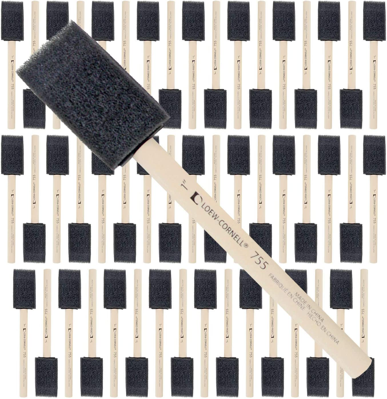 Foam Brush Foam Paint Brushes Durable and Great for Acrylics Crafts Foam Sponge Wood Handle Paint Brush Set Stains Varnishes