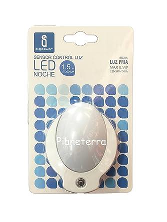 Aigostar luz nocturna con sensor LED 1.5lm 20000h Max 0.5 W Bombilla a +
