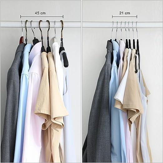 Songmics Cintres En Velours Lot De 20 Crochet Pivotant à 360 Antidérapant Pour Costumes Chemises Robes Cravates Noir Crf20b