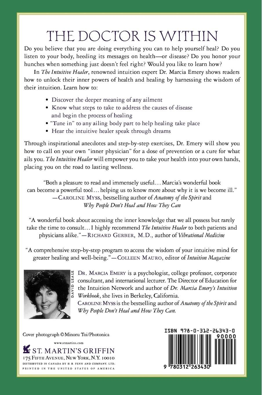 The Intuitive Healer Accessing Your Inner Physician Marcia Emery