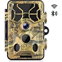 WiFi Trail Camera 20MP 1296P Bluetooth Hunting Game Camera with Night Vision Motion Activated 2.4″LCD Screen IP66…