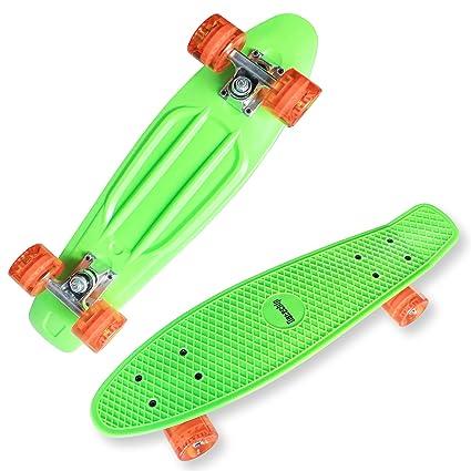datechip Kids Complete Skate Boards – plástico ruedas de PU Skateboards 22 inch para niño principiante