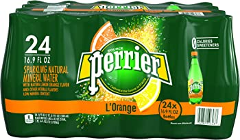 24-Pack PERRIER L'Orange Flavored Sparkling Mineral Water