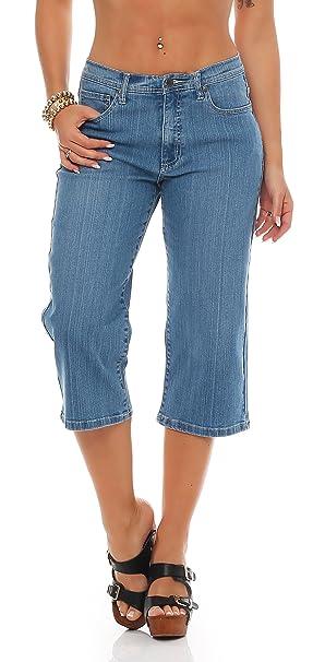 JET Line pirata para mujer pantalones vaqueros pantalones ...