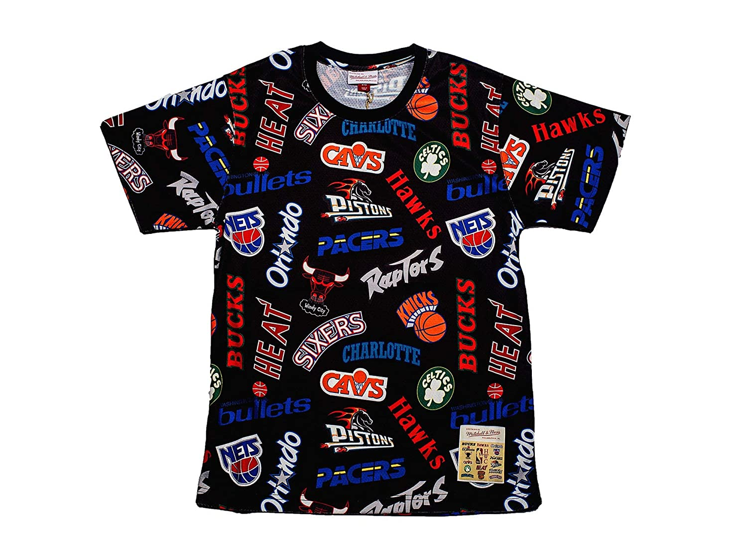 Amazon.com  Mitchell   Ness NBA All-Over Western Eastern Jersey T-Shirt  (Black Eastern 94667cbf0