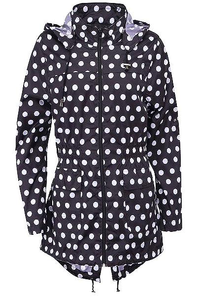 c81ef0fdd BRAVE traje de neopreno para mujer SOUL para mujer diseño de lunares con  impresión de colibríes y PARKA con capucha con texto de MAC ...