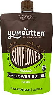 product image for Organic Sunflower Butter by Yumbutter, Creamy Seed Butter, USDA Organic, Gluten Free, Vegan, Non GMO, 6.2oz Pouch