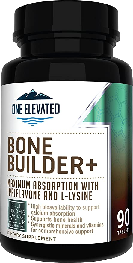 Comprehensive Bone Builder Calcium Supplement. Formulated with Highest Grade Calcium -Carbonate/Hydroxyapatite/Citrate, Magnesium, Zinc, D3. Works in Sync for Optimum Bone Health and Bone Strength.