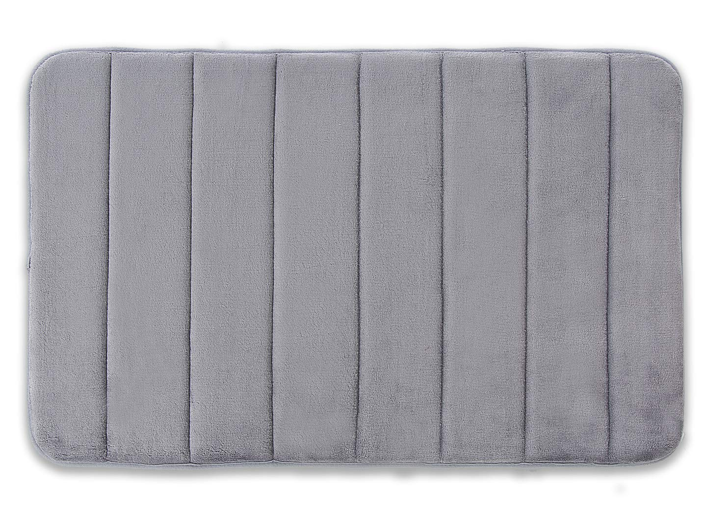 Yimobra Memory Foam Bath Mat Large Size 31.5 by 19.8 Inch,Maximum Absorbent,Soft,Comfortable,Non-Slip,Easier to Dry for Bathroom,Gray (Presented Wall Hooks 3 Pack) by Yimobra