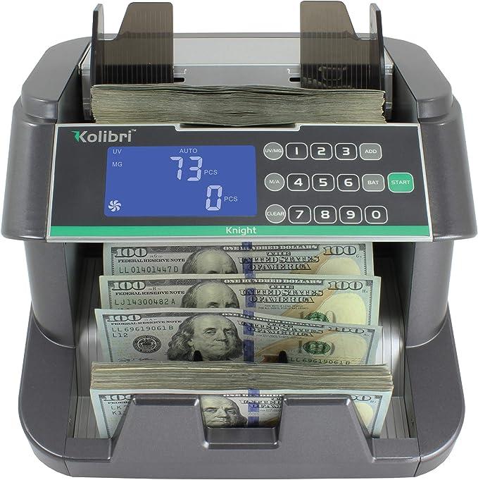Kolibri Money Counter Counterfeit Bill Detection Machine Steel Plastic 1 Pack