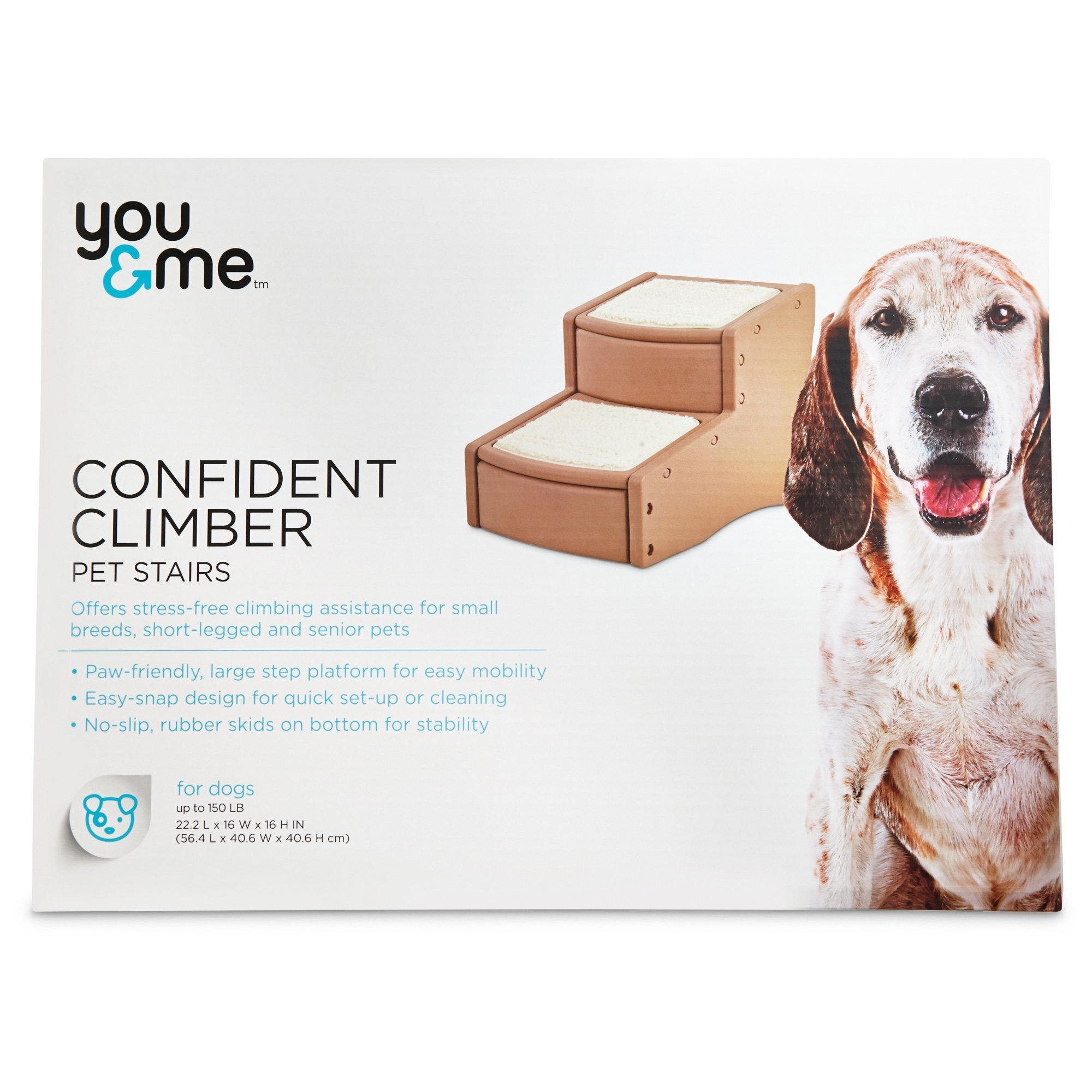 You & Me Confident Climber Pet Stairs, Brown