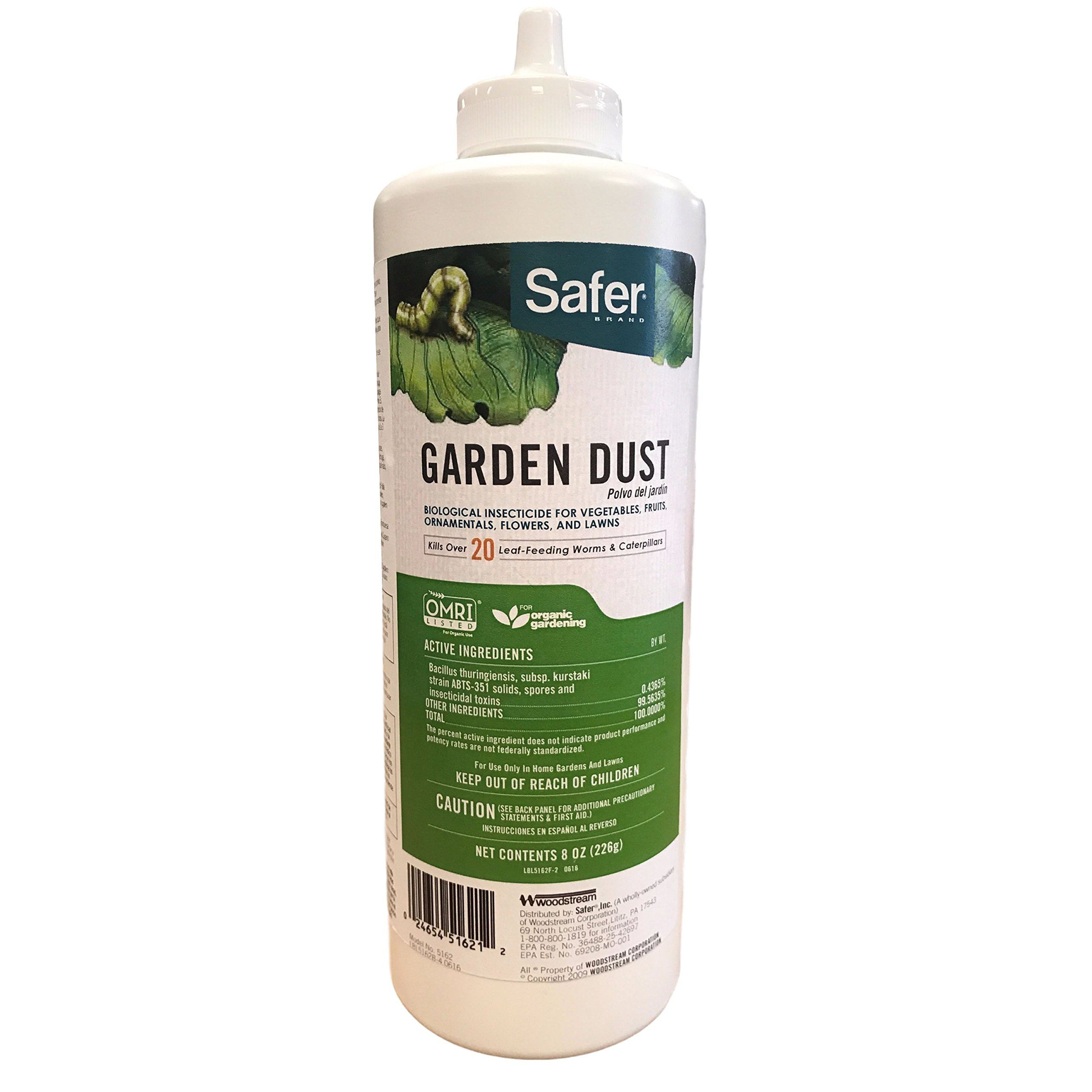 Safer 5162-12 Garden Dust Caterpillar Killer with with B.T. 8oz