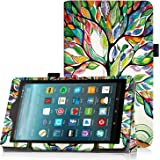 Famavala Folio Standable Case Cover For 7-Inch Fire 7 Tablet [7th Generation , 2017 Release] / [5th Generation , 2015 Release] (LuckyTree)
